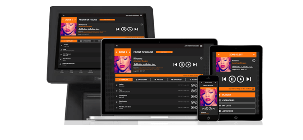 Control Your Music On Any Device Including Smartphones, POS Terminals, Tablets and Laptops